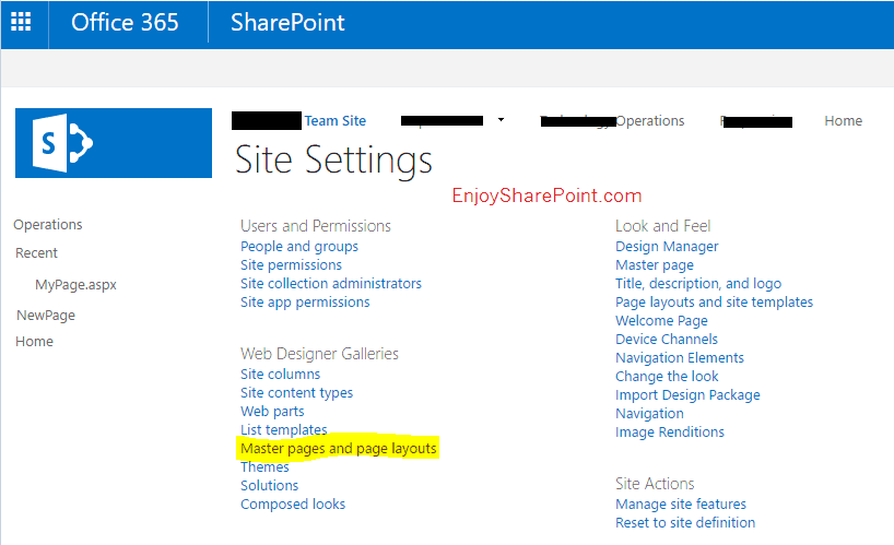 create custom master page in sharepoint designer 2013
