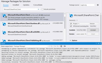 sharepoint online visual studio 2015 csom