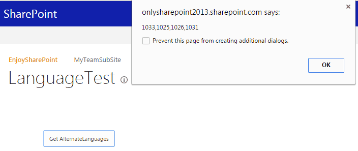get alternate languages using rest api in sharepoint