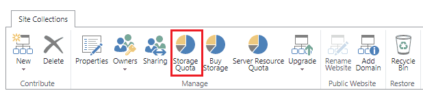 Increase site storage for SharePoint online