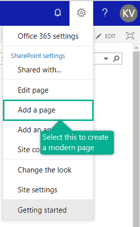 create modern page on classic site sharepoint