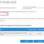 Office 365 Increase site storage for SharePoint online sites