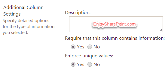 this field must be indexed to enforce unique values
