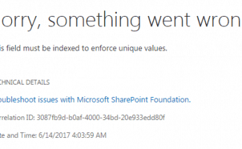 This field must be indexed to enforce unique values error while adding content types in SharePoint Online