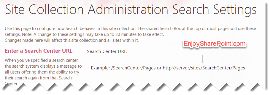 Change Search Center URL using JavaScript in SharePoint