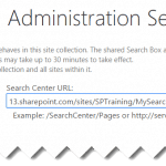 SharePoint 2013 change search center url using jsom