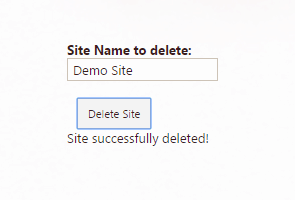 delete site using jsom sharepoint 2013
