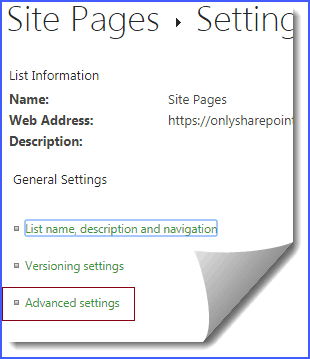 create site page link missing in SharePoint