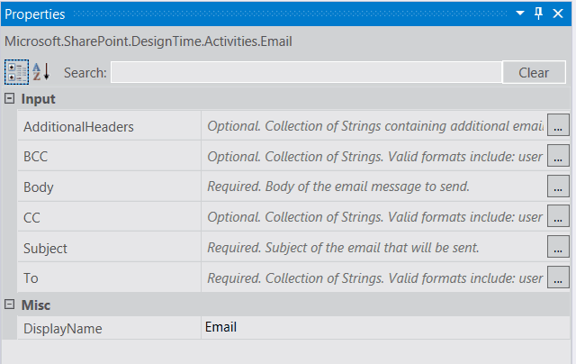 send email using visual studio workflow sharepoint