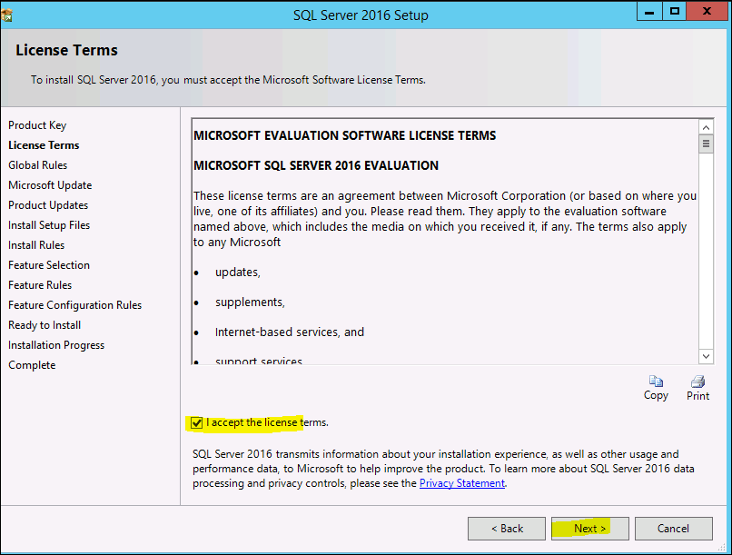 how to install sql server 2016 standard edition step by step