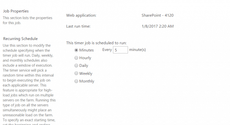 Steps to create custom timer job in SharePoint 2016 using Visual Studio 2015