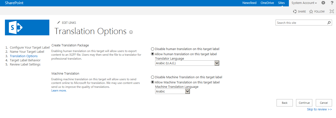 how to enable variations in sharepoint 2013
