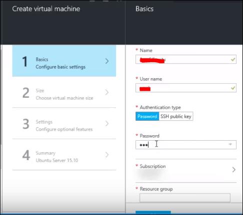create linux virtual machine in azure