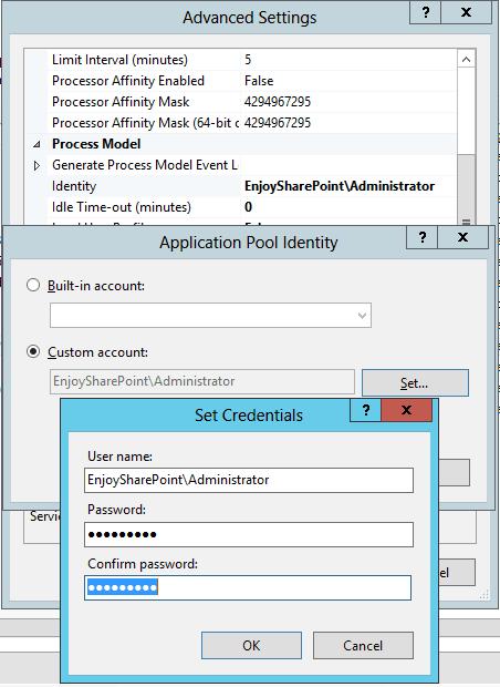 500 internal server error SharePoint 2016