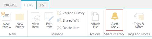 sharepoint alert me, sharepoint 2016 alert me not working