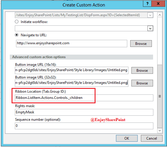 Custom Actions Add custom buttons to SharePoint list ribbon using SharePoint Designer 2013