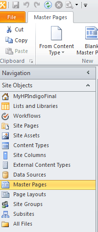 create custom master page in sharepoint 2010 using sharepoint designer