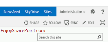 Remove SharePoint 2013 Newsfeed OneDrive Sites from Navbar Hide SharePoint SuiteBar