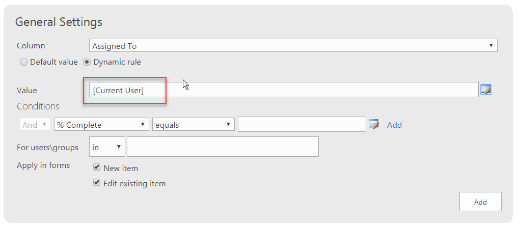 Infowise Ultimate Forms set default value to people picker