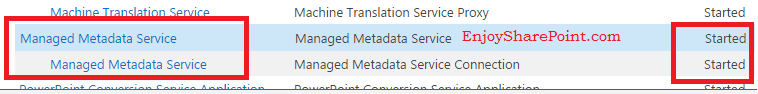 SharePoint 2013 The Managed Metadata Service or Connection is currently not available