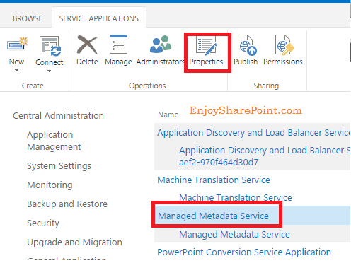 SharePoint 2016 The Managed Metadata Service or Connection is currently not available