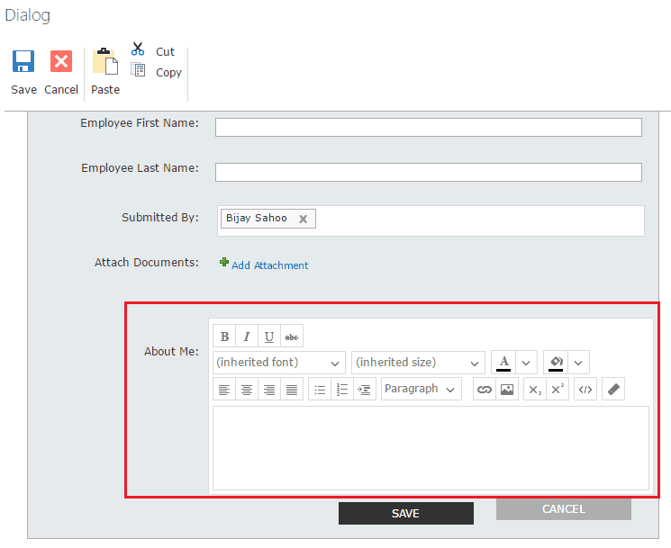 Nintex forms create column