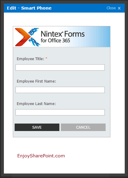 nintex forms add different layout