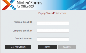 design multiple step forms using Nintex forms