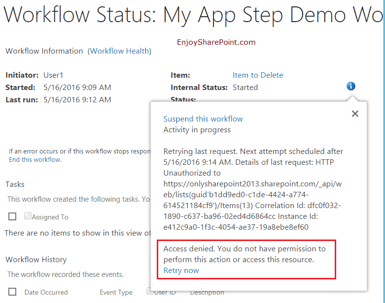App step nintex workflow sharepoint