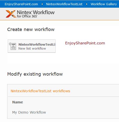 nintex workflow sharepoint online