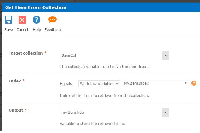 how to use for each loop in nintex workflow
