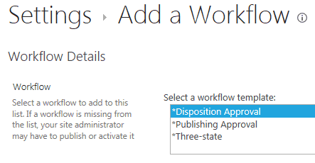 Not able to see all out of box workflows in SharePoint 2013 Online Sites