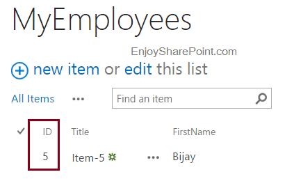 sharepoint 2013 reset list item id