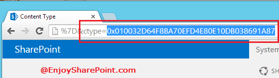 How to get Content Type Id of SharePoint 2013 list?