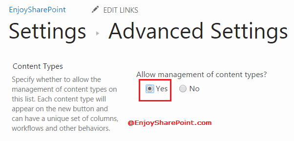 get Content Type Id of SharePoint list