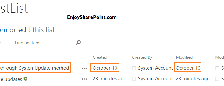 SharePoint 2013 SPListItem method Update SystemUpdate and UpdateOverwriteVersion