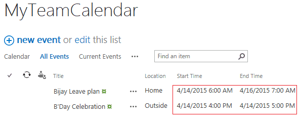 SharePoint 2013 Online Remove Time from All Events Calendar view