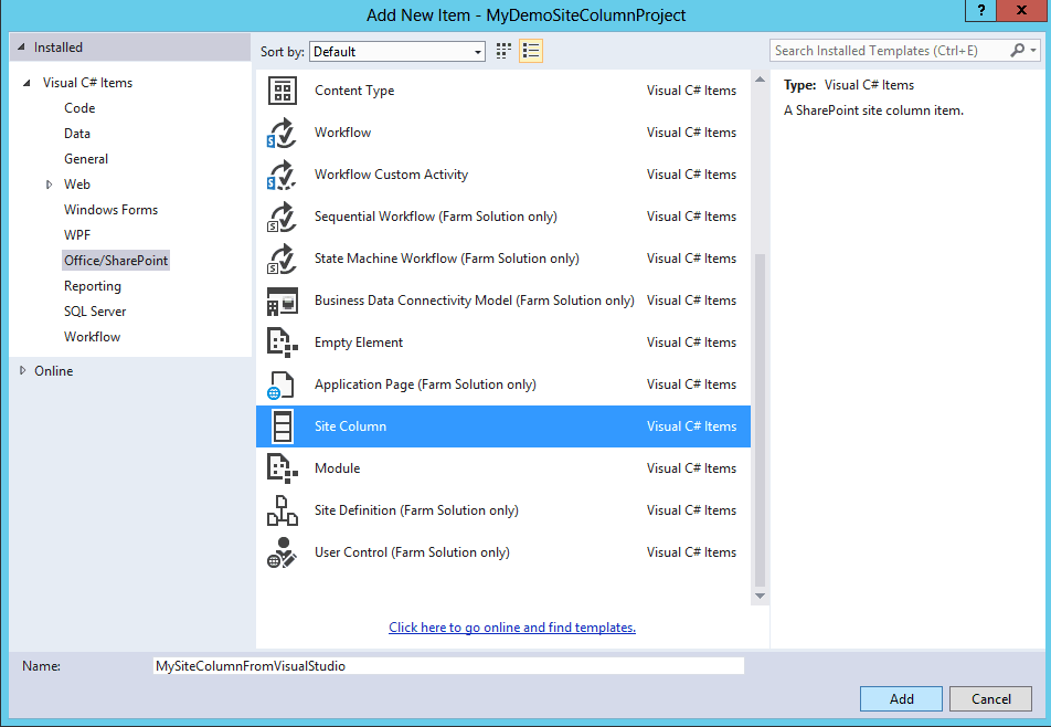 sharepoint 2013 create site column using powershell