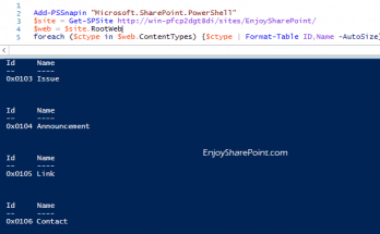 Get all content types from site collection using PowerShell in SharePoint 2013