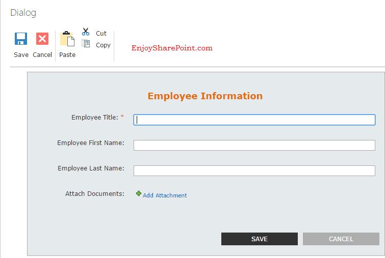 nintex forms sharepoint online change header image