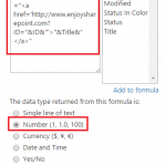 Generate URL using Calculated column in SharePoint 2013 List