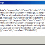 The security validation for this page is invalid and might be corrupted error in SharePoint 2013 Rest API