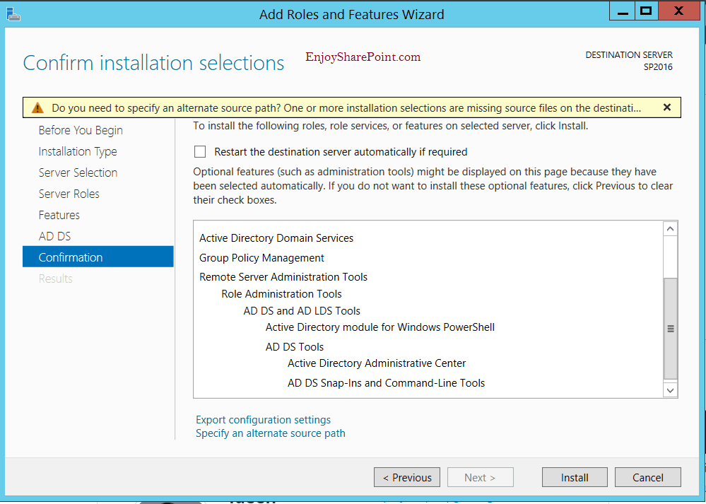 install and configure active directory domain services in windows server 2012