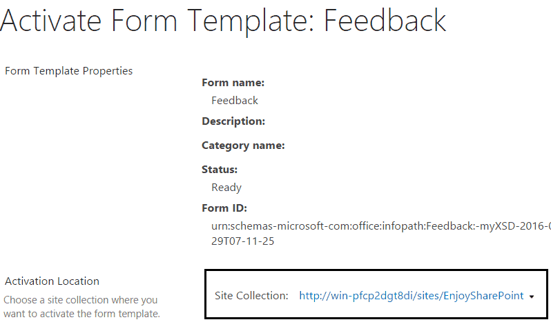 how to Deploy infopath form to sharepoint 2013