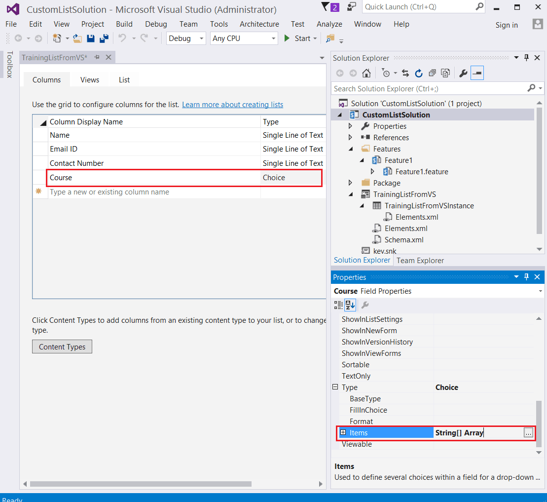 Create list instance and list definition in SharePoint 2016