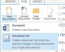 sharepoint document sets example