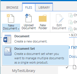 sharepoint online document sets