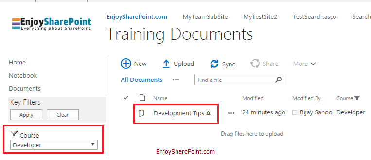 configure metadata navigation for document libraries in SharePoint Online