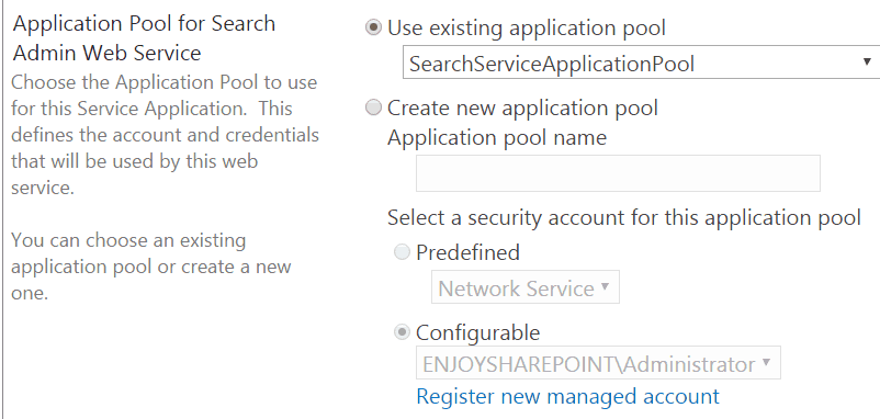 configure search service application sharepoint 2013