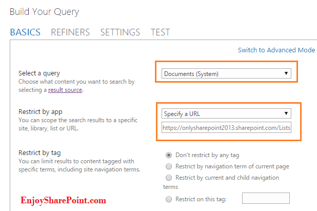 Display list data in Slideshow view using SharePoint content search web part